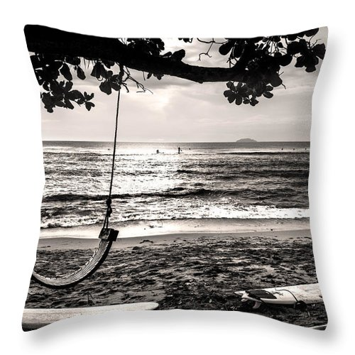 Beach Throw Pillow featuring the photograph Peaceful Tide by Guillermo Cummmings