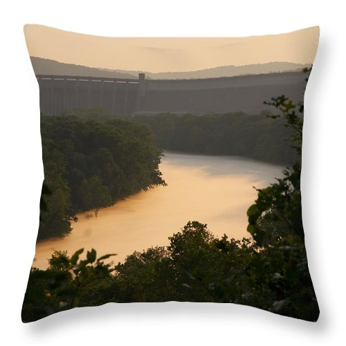 Fog Throw Pillow featuring the photograph Peach fog by Toni Berry