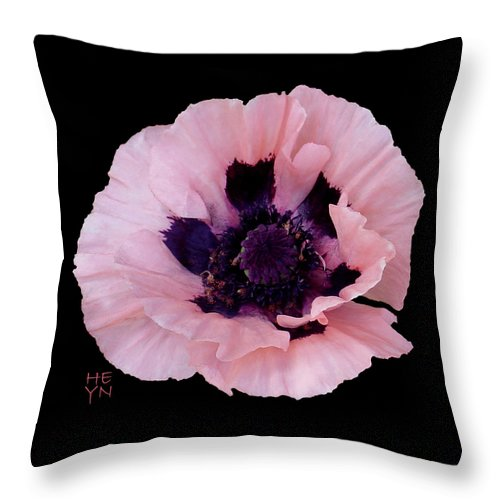 Cutout Throw Pillow featuring the photograph Peach Poppy - Cutout by Shirley Heyn
