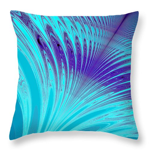 Clay Throw Pillow featuring the digital art Peacock by Clayton Bruster