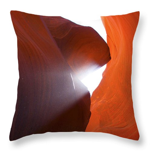 Erosion Throw Pillow featuring the photograph Peaking Sun Light by Yousif Hadaya