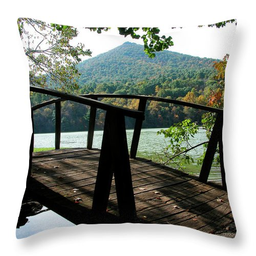 Peaks Of Otter Throw Pillow featuring the photograph Peaks Of Otter by Thomas R Fletcher