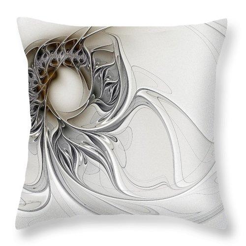 Digital Art Throw Pillow featuring the digital art Pearl by Amanda Moore
