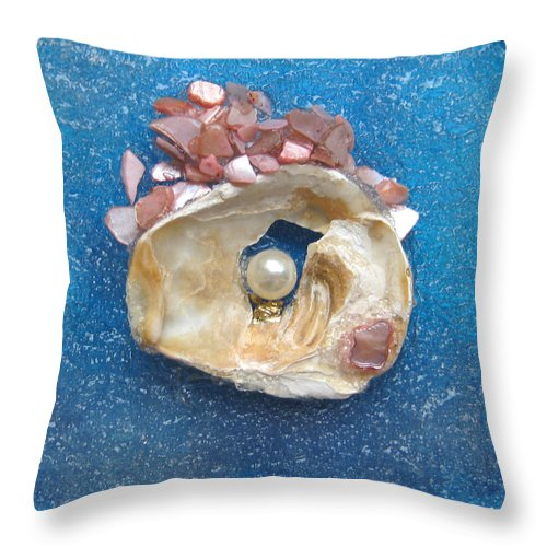 Pearl Of The North Sea Sylt Throw Pillow featuring the glass art Pearl Of The North Sea Sylt No 0 by Heidi Sieber