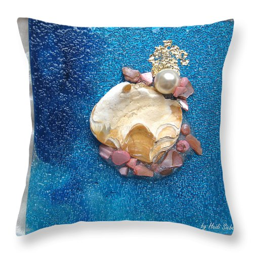 Pearl Of The North Sea Sylt Throw Pillow featuring the glass art Pearl Of The North Sea Sylt No 1 by Heidi Sieber
