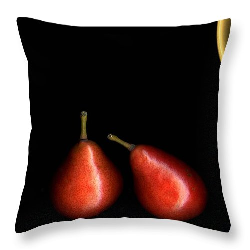 Pears Throw Pillow featuring the photograph Pears And Bowl by Christian Slanec
