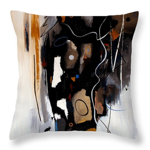 Abstract Throw Pillow featuring the painting Pebbles In The Stream by Ruth Palmer