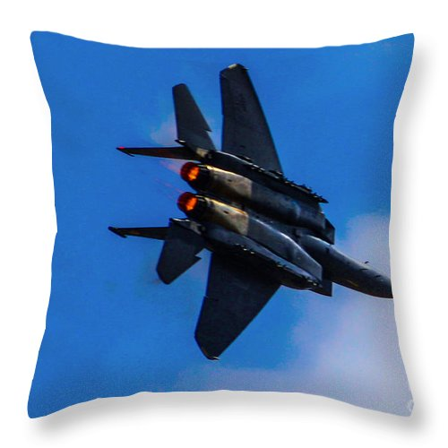F15 Throw Pillow featuring the photograph Pedal To The Metal by Tommy Anderson