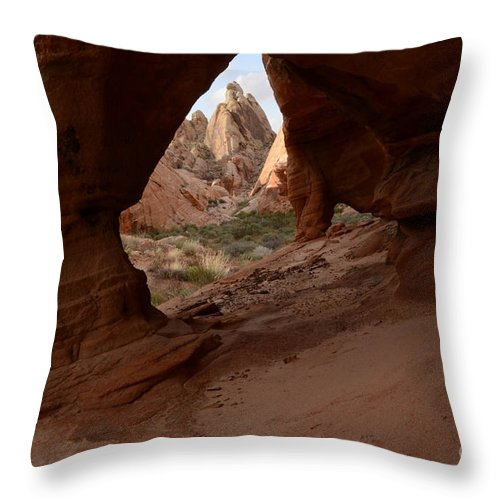 Nevada Throw Pillow featuring the photograph Peek A Boo by Bob Christopher