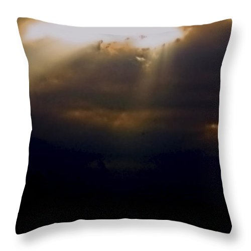 Sunrise Throw Pillow featuring the photograph Peeking Thru by Marshall Barth