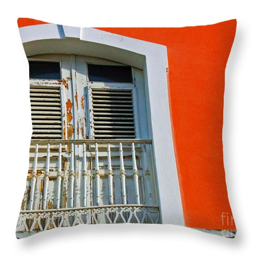 Shutters Throw Pillow featuring the photograph Peel An Orange by Debbi Granruth