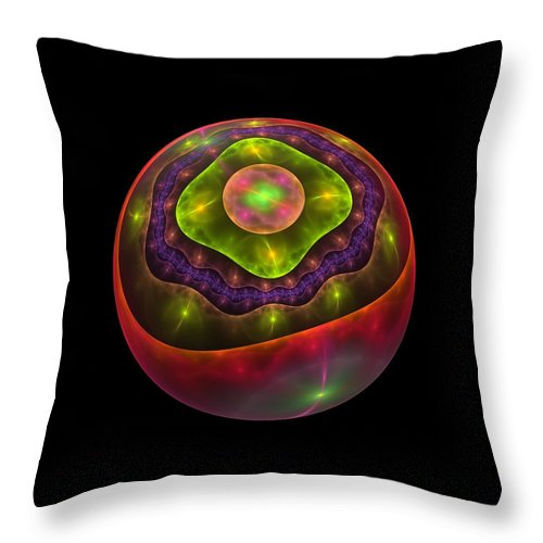 Apophysis Throw Pillow featuring the digital art Peel Back The Layers by Lyle Hatch