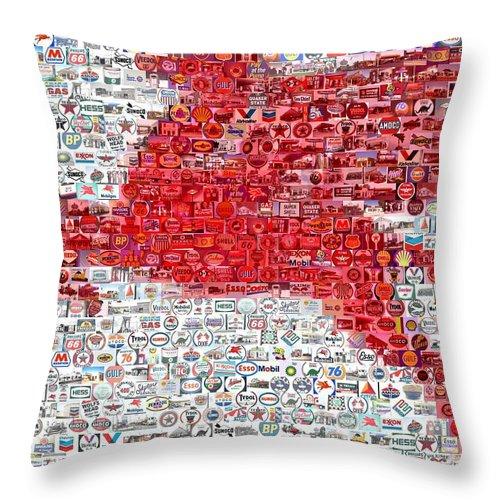 Mobile Throw Pillow featuring the digital art Pegasus Mosaic by Paul Van Scott