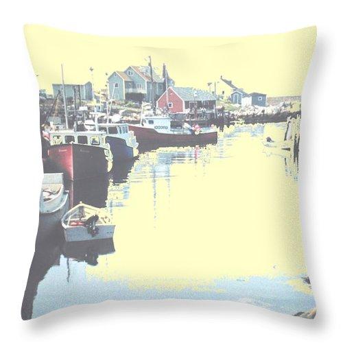 Nova Scotia Throw Pillow featuring the photograph Peggy by Ian MacDonald