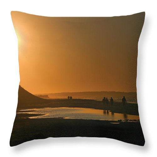 Prince Edward Island Throw Pillow featuring the photograph Pei Cavendish Beach Sunset by Steve Somerville