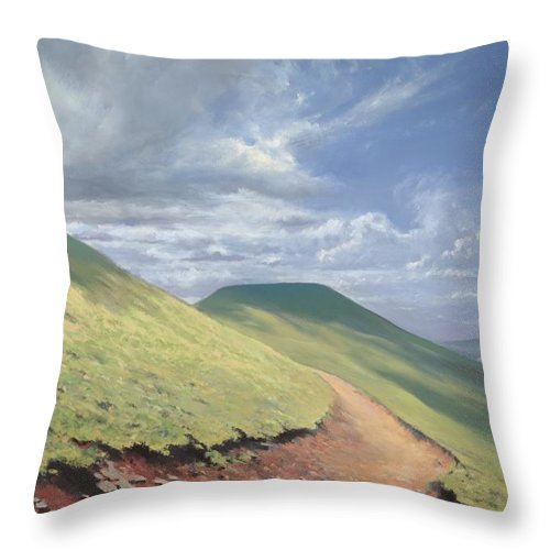Pen Y Fan Throw Pillow featuring the painting Pen Y Fan by Richard Picton