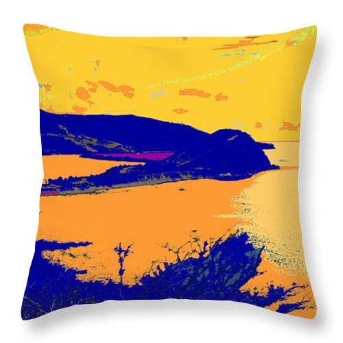 St Kitts Throw Pillow featuring the photograph Peninsula Orange by Ian MacDonald