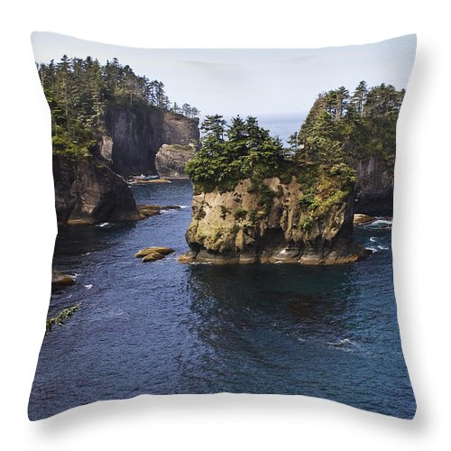 Chad Davis Throw Pillow featuring the photograph Peninsula Point by Chad Davis