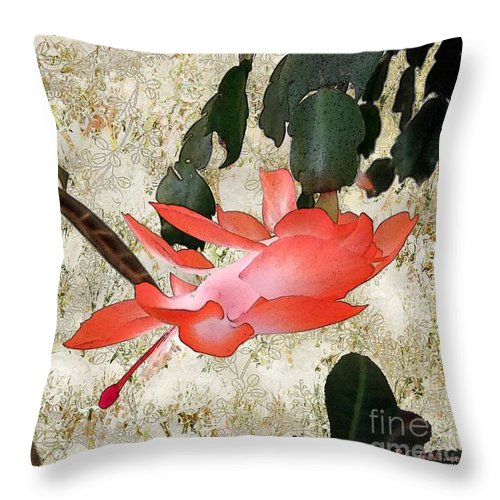 Victorian Throw Pillow featuring the painting Penny Postcard Japonaise by RC DeWinter