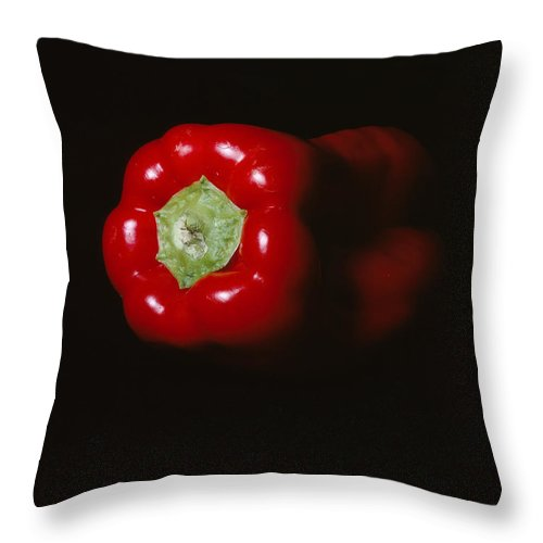 Red Pepper Throw Pillow featuring the photograph Pepper by Jessica Wakefield