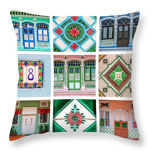 Peranakan Art Singapore Throw Pillow for Sale by Valley Arora