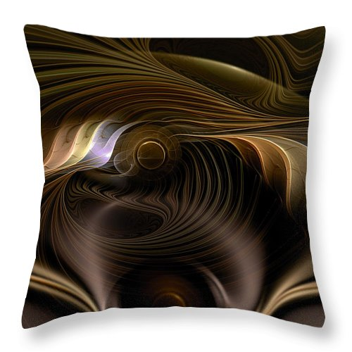 Abstract Throw Pillow featuring the digital art Perceptual Flux by Casey Kotas