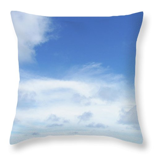 Blue Throw Pillow featuring the photograph Perfect Day by JAMART Photography