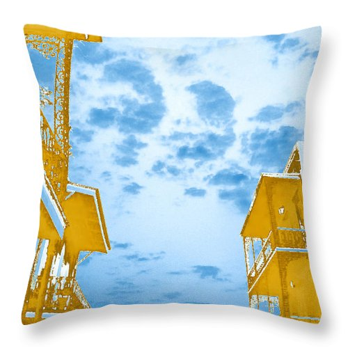 Sky Throw Pillow featuring the photograph Perfect New Orleans Day by Max Mullins