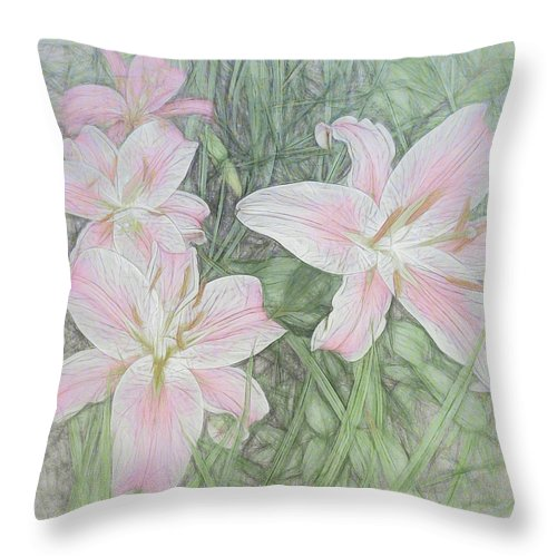 Stargazers Throw Pillow featuring the digital art Perfection by Leslie Montgomery