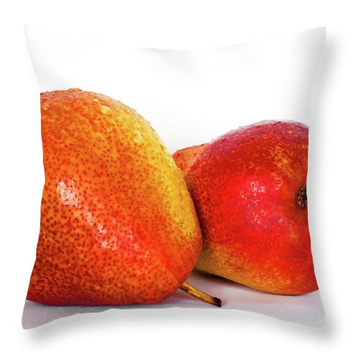 Pears Throw Pillow featuring the photograph Perfectly Peared by Regina Geoghan