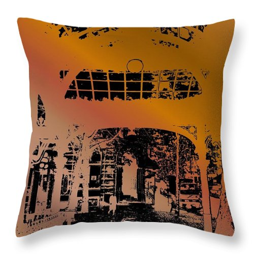 Seattle Throw Pillow featuring the photograph Pergola 2 by Tim Allen