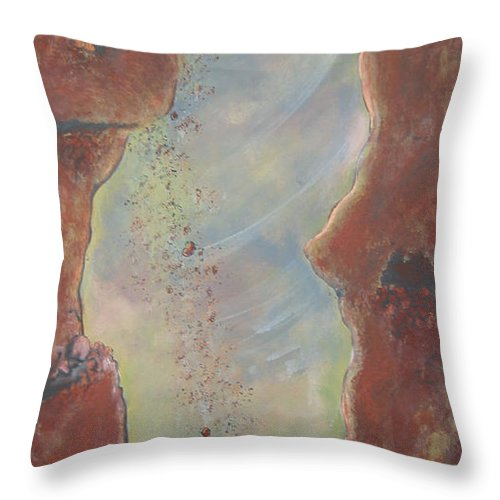 Nature Throw Pillow featuring the painting Perseverance by V Boge