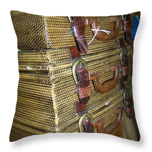 Antiques Throw Pillow featuring the photograph Perusing The Antique Shop by Candida Tate