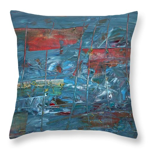 May Day Throw Pillow featuring the painting Pervomay by Mikhail Yevdakov