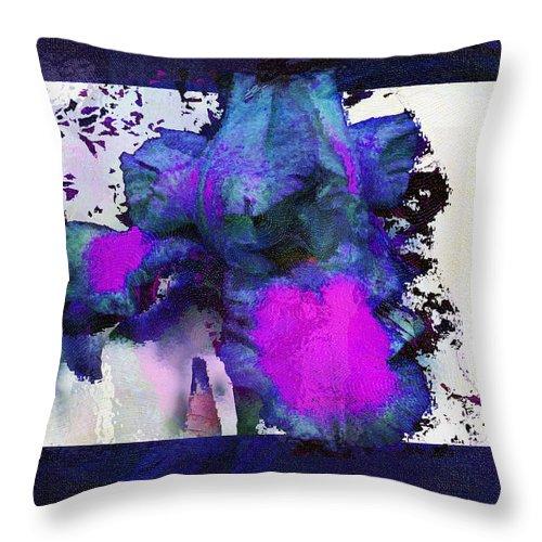 Digital Art Throw Pillow featuring the digital art Petal Power by Linda Murphy