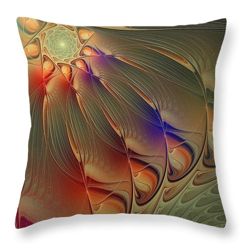 Digital Art Throw Pillow featuring the digital art Petalia by Amanda Moore