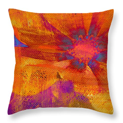Flower Throw Pillow featuring the Petaline - T39a04b by Variance Collections