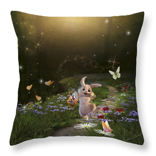 Art Throw Pillow featuring the photograph Peter Cottontail by Bruce Bouley