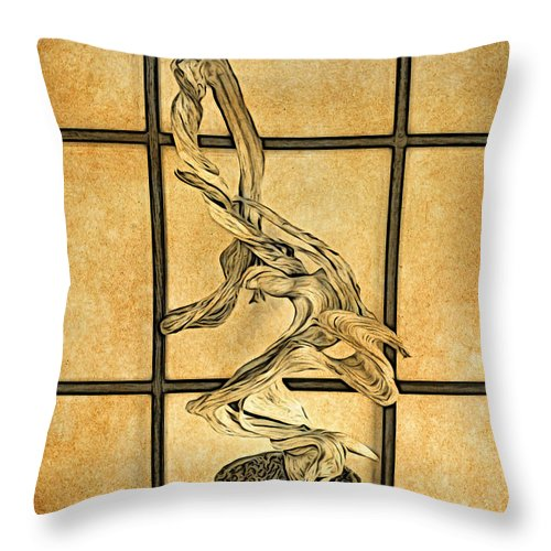 Bonsai Throw Pillow featuring the photograph Bare by Onedayoneimage Photography