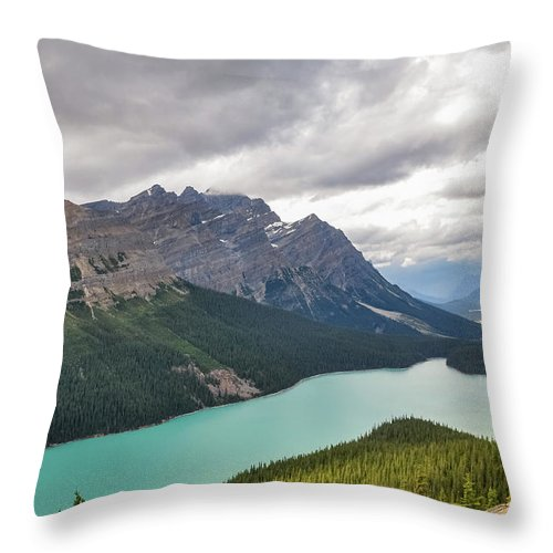 Alberta Throw Pillow featuring the photograph Peyto Lake - Banff National Park, Canada by Daniela Constantinescu