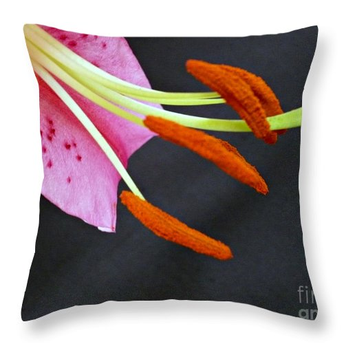 Blossom Throw Pillow featuring the photograph Phallic Blossom by Jacqueline Milner