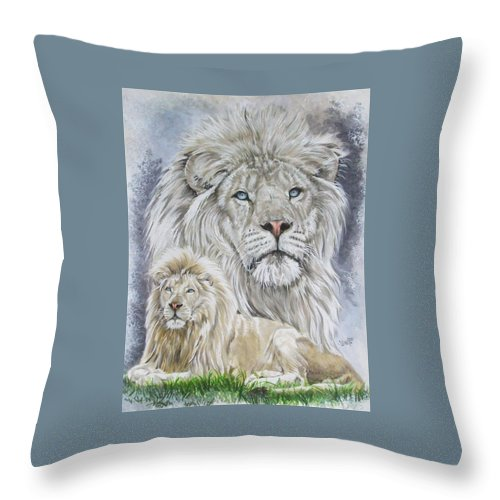 Art Throw Pillow featuring the mixed media Phantasy by Barbara Keith