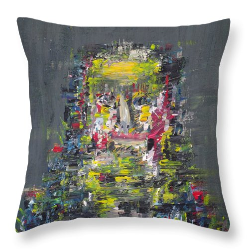 Pharaoh Throw Pillow featuring the painting Pharaoh by Fabrizio Cassetta
