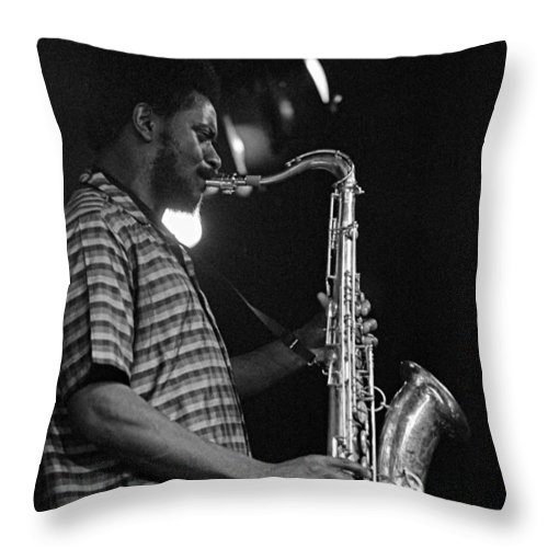 Pharoah Sanders Throw Pillow featuring the photograph Pharoah Sanders 2 by Lee Santa