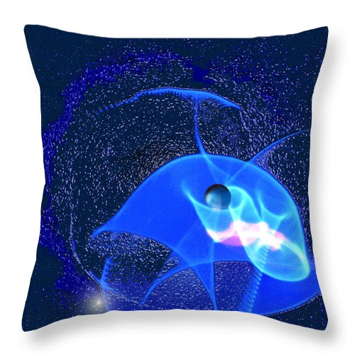Space Throw Pillow featuring the digital art Phenomenon by Steve Karol