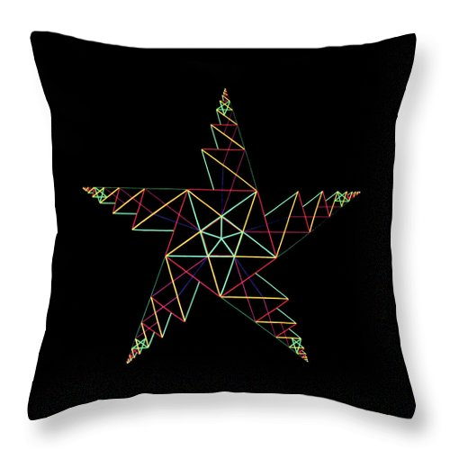 3d Throw Pillow featuring the painting Phi by Heather Crowther