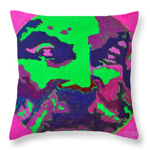 Philosopher Throw Pillow featuring the painting Philosopher - Anaximenes by Ana Maria Edulescu