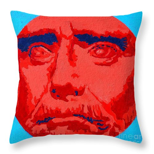 Philosopher Throw Pillow featuring the painting Philosopher - Thales by Ana Maria Edulescu