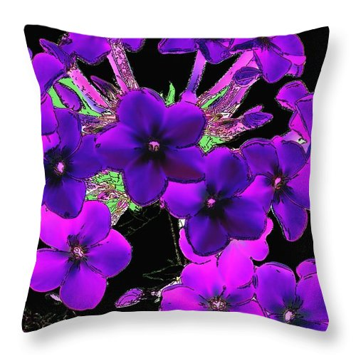 Throw Pillow featuring the photograph Phlox Fantasy by David Lane