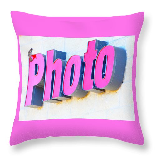 Birds Throw Pillow featuring the photograph Photo by Leon Hollins III